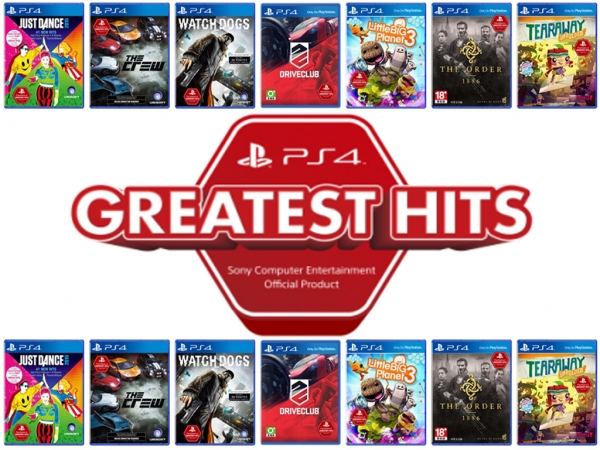 Sony Interactive Entertainment Taiwan Limited  推出「PlayStation®4 Greatest Hits」精選遊戲  2017年9月21日在台發售 建議售價新台幣790元